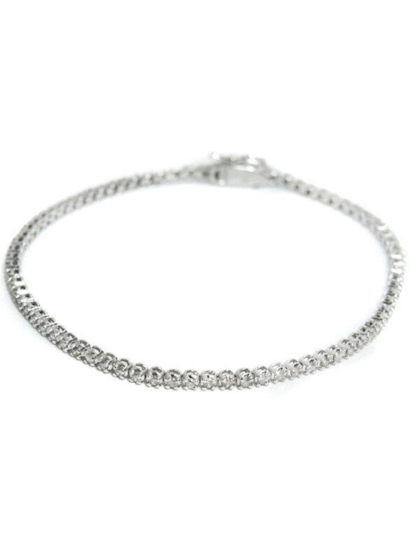 セレクトジュエリー『K18WGブレスレット ダイヤモンド1.0ct テニスブレス』1週間保証【中古】