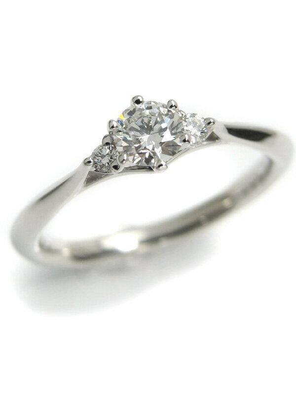 【Disney】ディズニー『PT950リング ダイヤモンド0.22ct 0.04ct』7号 1週間保証【中古】