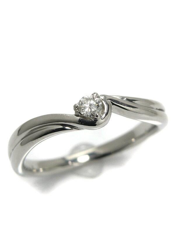【4℃】【仕上済】ヨンドシー『PT950リング ダイヤモンド』13.5号 1週間保証【中古】