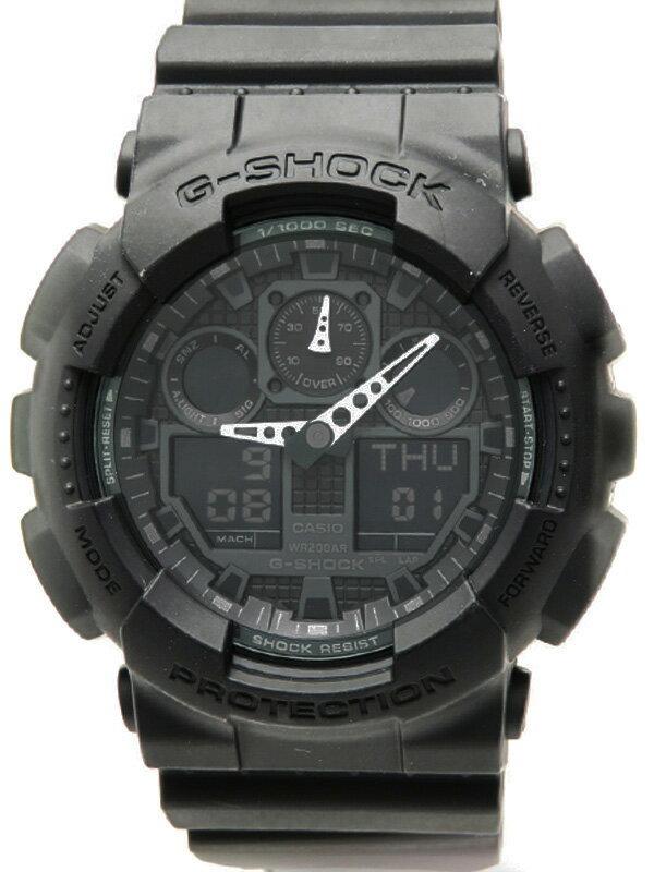 【CASIO】【G-SHOCK】カシオ『Gショック』GA-100-1A1JF メンズ クォーツ 1週間保証【中古】
