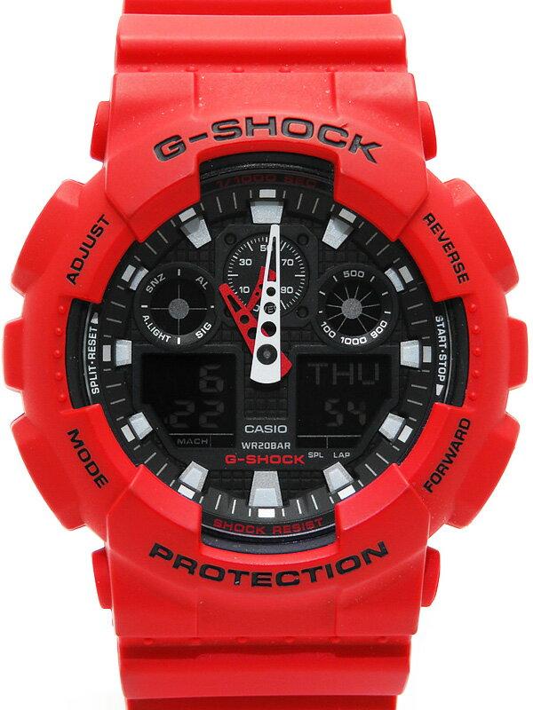 【CASIO】【G-SHOCK】カシオ『Gショック デジアナ』GA-100B-4AJF メンズ クォーツ 1週間保証【中古】