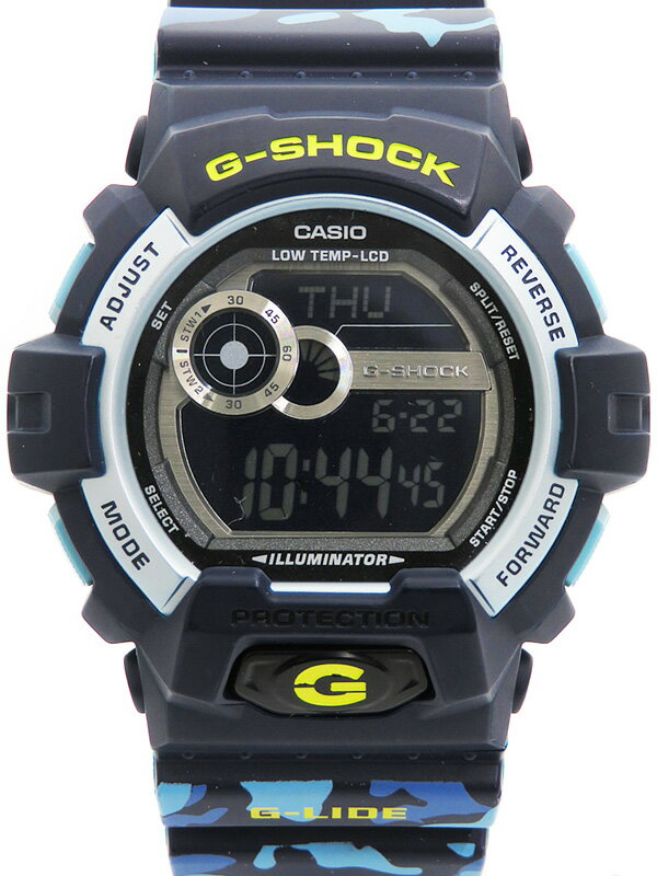 【CASIO】【G-SHOCK】カシオ『Gショック Gライド カモフラージュ』GLS-8900CM メンズ クォーツ 1週間保証【中古】