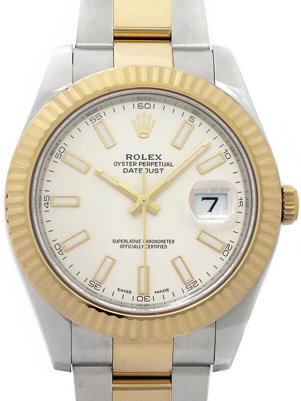 【ROLEX】【'16年購入】ロレックス『デイトジャスト2』116333 ランダム番 メンズ 自動巻き 12ヶ月保証【中古】