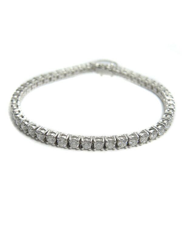 【仕上済】セレクトジュエリー『PT850ブレスレット ダイヤモンド4.51ct テニスブレス』1週間保証【中古】