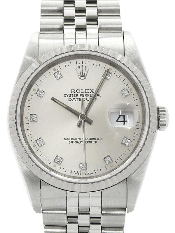 【ROLEX】ロレックス『デイトジャスト 10Pダイヤ』16234G X番'91年頃製 メンズ 自動巻き 12ヶ月保証【中古】