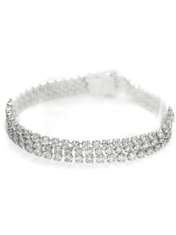 セレクトジュエリー『PT850ブレスレット ダイヤモンド11.98ct 3連』1週間保証【中古】