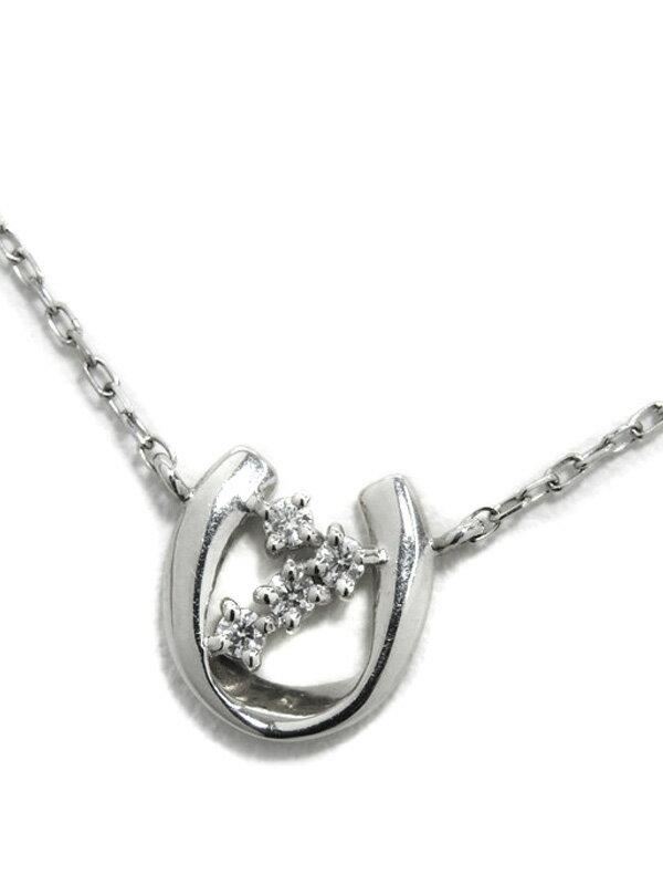 【仕上済】セレクトジュエリー『PT900/PT850ネックレス ダイヤモンド0.05ct』1週間保証【中古】