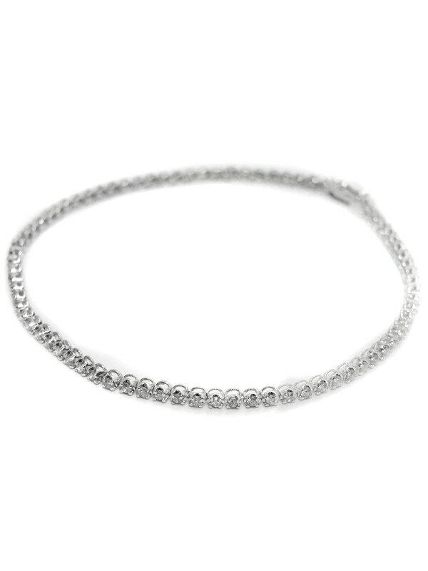 セレクトジュエリー『K18WGブレスレット ダイヤモンド1.00ct テニスブレス』1週間保証【中古】