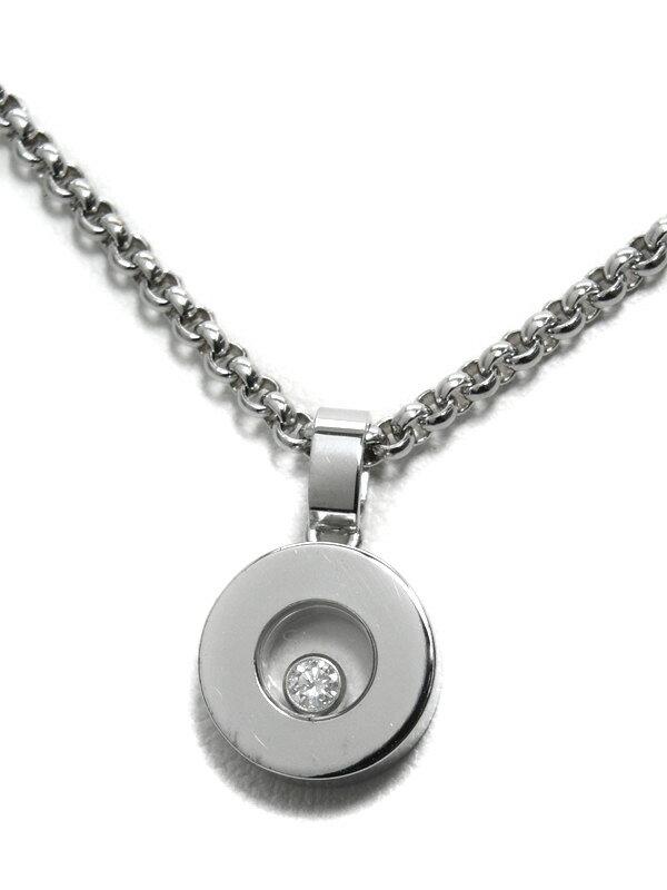 【Chopard】【メーカー洗浄済】ショパール『ハッピーダイヤモンド ネックレス』79/3086-20 1週間保証【中古】