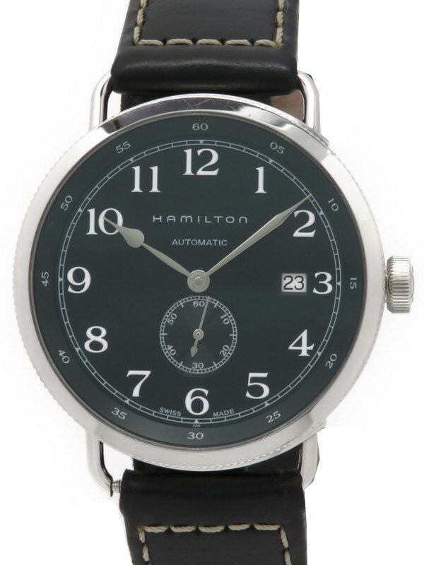 【HAMILTON】【裏スケ】ハミルトン『カーキネイビー パイオニア』H78415733 メンズ 自動巻き 3ヶ月保証【中古】