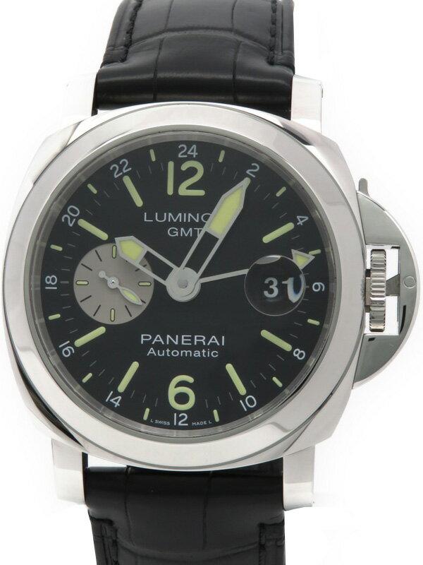 【PANERAI】【'17年購入】パネライ『ルミノール GMT オートマティック アッチャイオ』PAM01088 S番'16年製 メンズ 自動巻き 6ヶ月保証【中古】