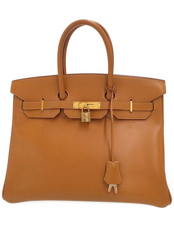 【HERMES】【ゴールド金具】エルメス『バーキン35』F刻印 2002年製 レディース ハンドバッグ 1週間保証【中古】