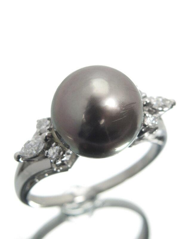 【MIKIMOTO】ミキモト『PT900リング パール10.1mm ダイヤモンド』10号 1週間保証【中古】