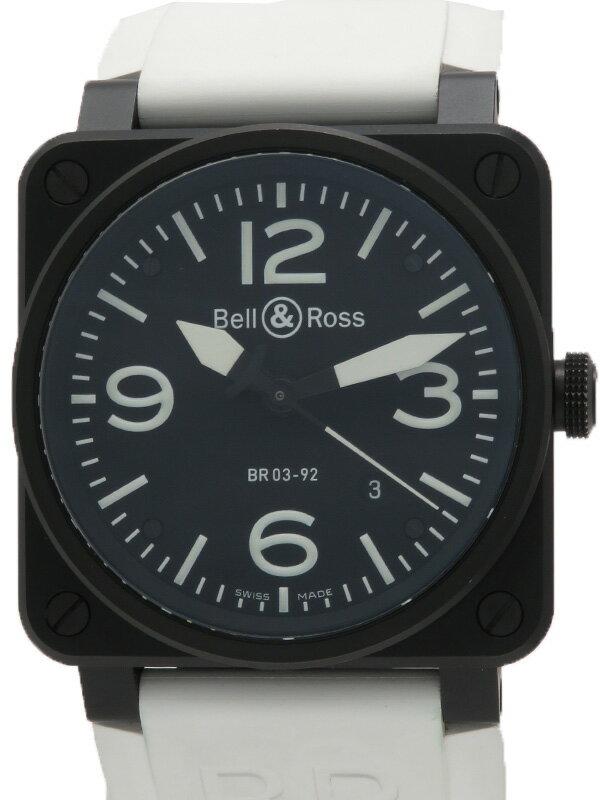 【Bell&Ross】ベルアンドロス『オートマティック』BR03-92CFB-R メンズ 自動巻き 3ヶ月保証【中古】
