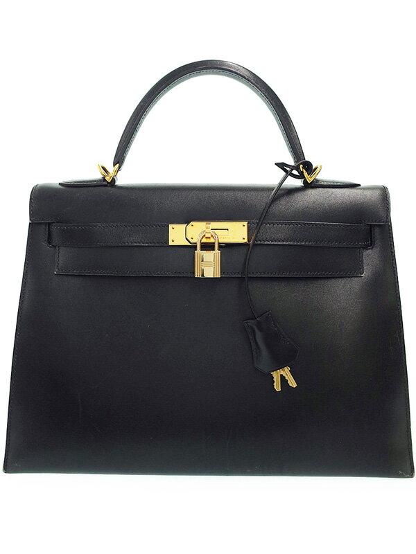 【HERMES】【ゴールド金具】エルメス『ケリー32 外縫い』E刻印 2001年製 レディース ハンドバッグ 1週間保証【中古】