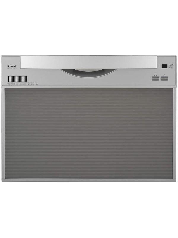 リンナイ『ビルトイン食器洗い乾燥機』RKW-601C-SV シルバー 引き出し式 8人分 14L ファミリータイプ 食器点数約52点【中古】
