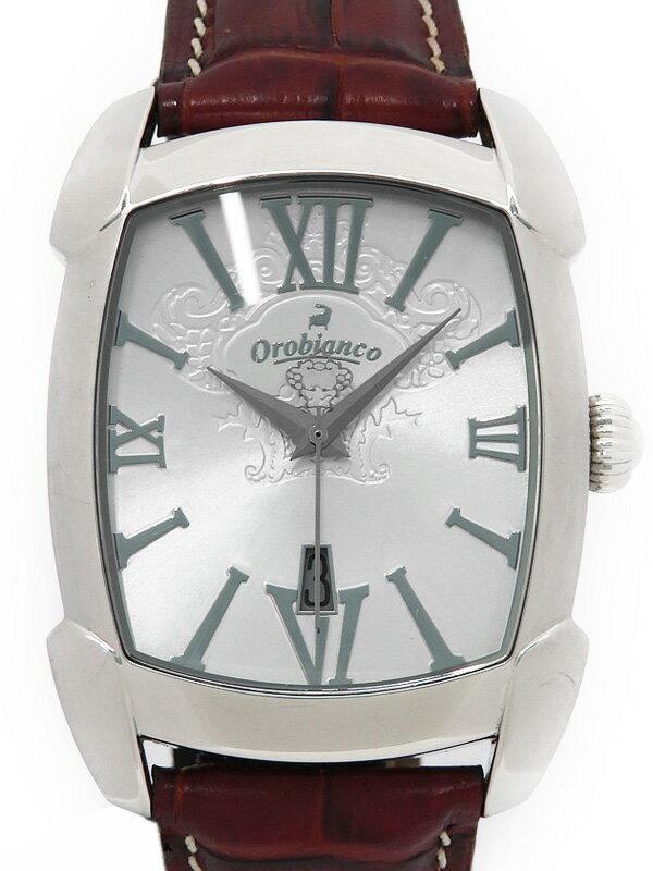 【Orobianco】【電池交換済】オロビアンコ『レッタンゴラ』OR-0012N メンズ クォーツ 1週間保証【中古】