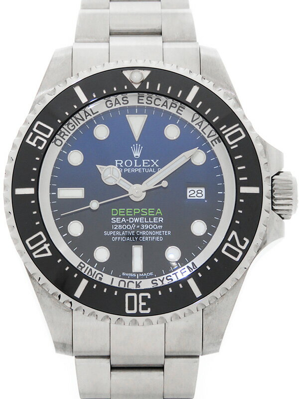 【ROLEX】【Dブルー】【'15年購入】ロレックス『シードゥエラー ディープシー』116660 ランダム番 メンズ 自動巻き 12ヶ月保証【中古】