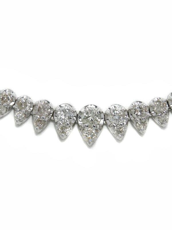 セレクトジュエリー『K18WG ダイヤモンド5.00ct テニスネックレス』1週間保証【中古】