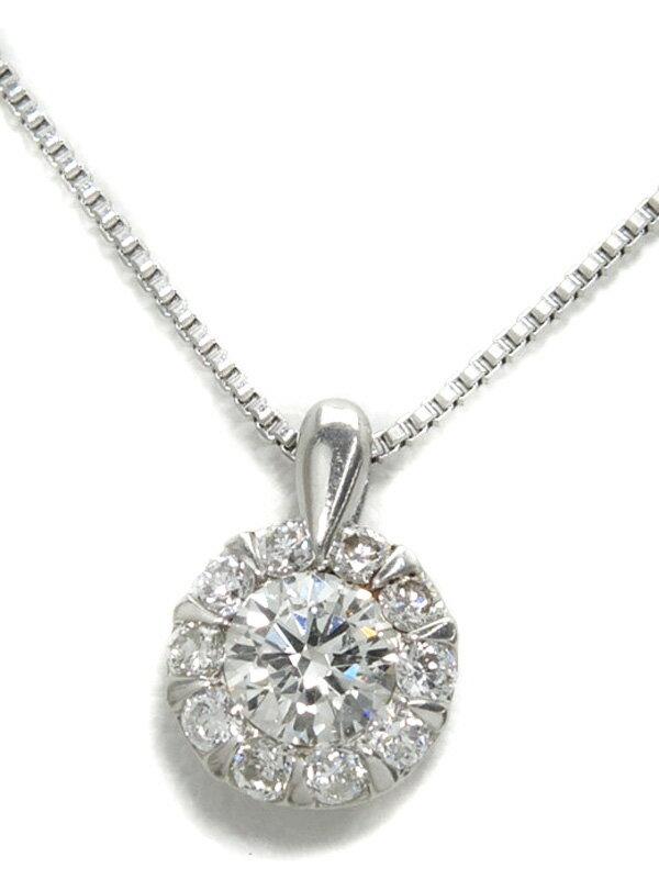 セレクトジュエリー『PT900/PT850ネックレス ダイヤモンド0.30ct』1週間保証【中古】