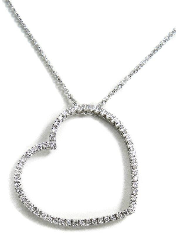【Ponte Vecchio】ポンテヴェキオ『K18WGネックレス ダイヤモンド0.37ct ハートモチーフ』1週間保証【中古】