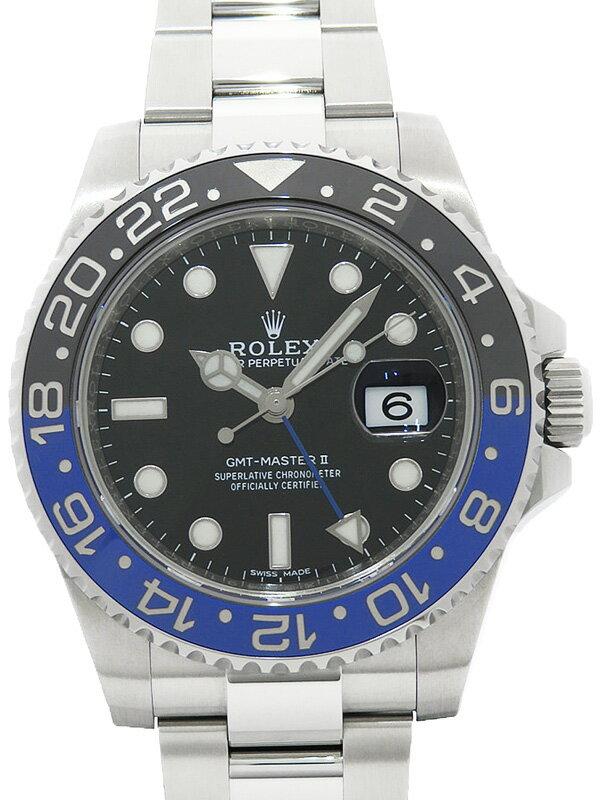 【ROLEX】【'17年購入】ロレックス『GMTマスター2 青×黒ベゼル』116710BLNR ランダム番 メンズ 自動巻き 12ヶ月保証【中古】