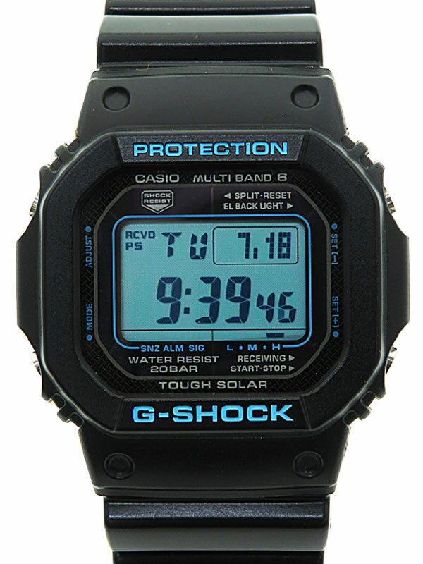 【CASIO】【G-SHOCK】【美品】カシオ『Gショック ブラック×ブルーシリーズ』GW-M5610BA-1AJF ボーイズ ソーラー電波クォーツ 1週間保証【中古】