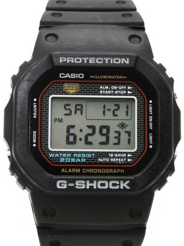 【CASIO】【G-SHOCK】【電池交換済】カシオ『Gショック』DW-5000-1JF ボーイズ クォーツ 1週間保証【中古】