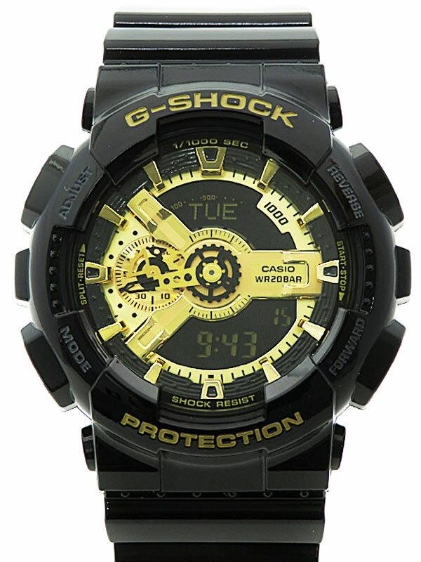 【CASIO】【G-SHOCK】【美品】カシオ『Gショック ブラック×ゴールドシリーズ』GA-110GB-1AJF メンズ クォーツ 1週間保証【中古】