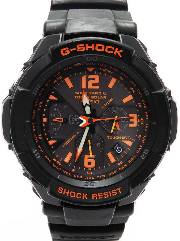 【CASIO】【G-SHOCK】カシオ『Gショック スカイコックピット』GW-3000B-1AJF メンズ ソーラー電波クォーツ 1週間保証【中古】