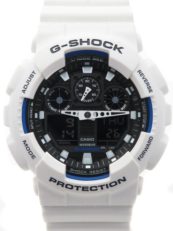 【CASIO】【G-SHOCK】【美品】【'17年購入】カシオ『Gショック』GA-100B-7AJF メンズ クォーツ 1週間保証【中古】