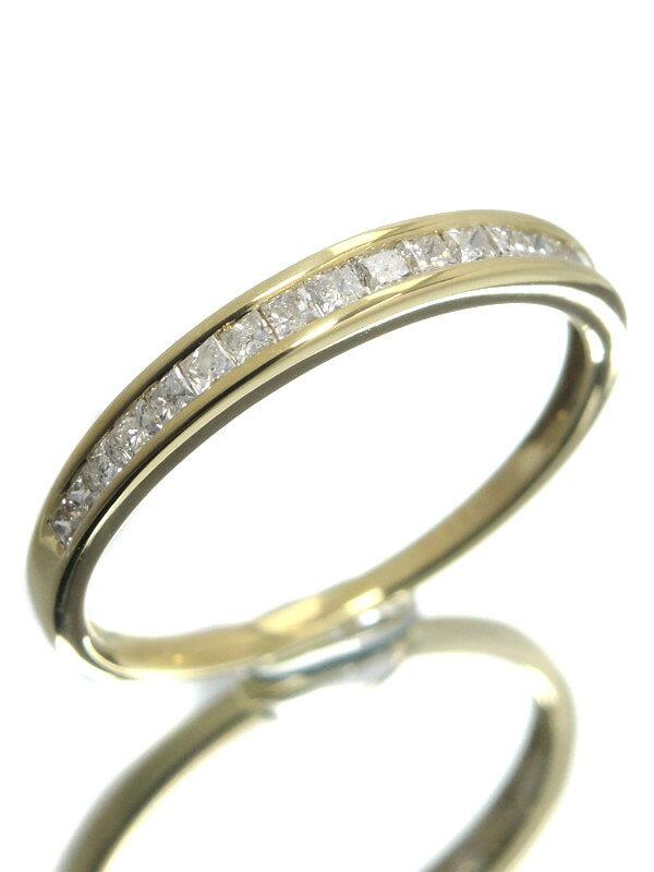 【仕上済】セレクトジュエリー『K18YGリング ダイヤモンド0.25ct ハーフエタニティ』13号 1週間保証【中古】