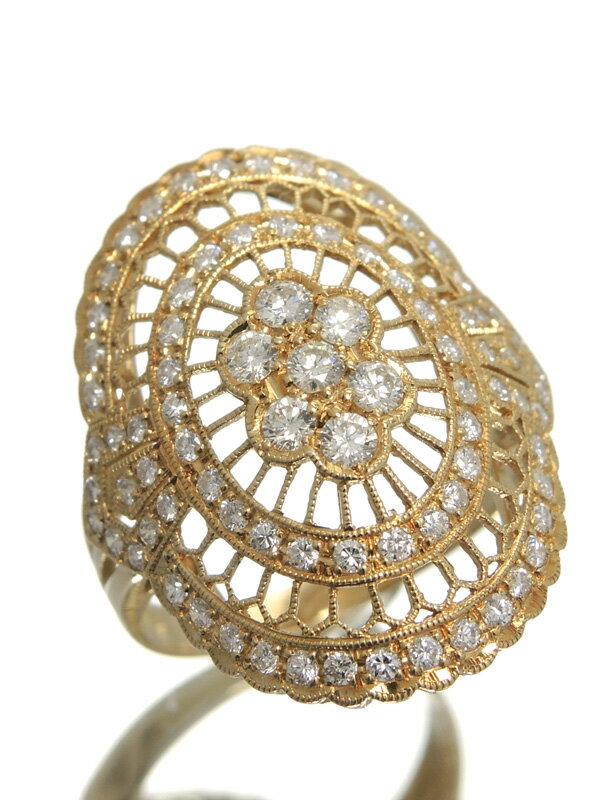 【仕上済】セレクトジュエリー『K18YGリング ダイヤモンド1.00ct』14号 1週間保証【中古】