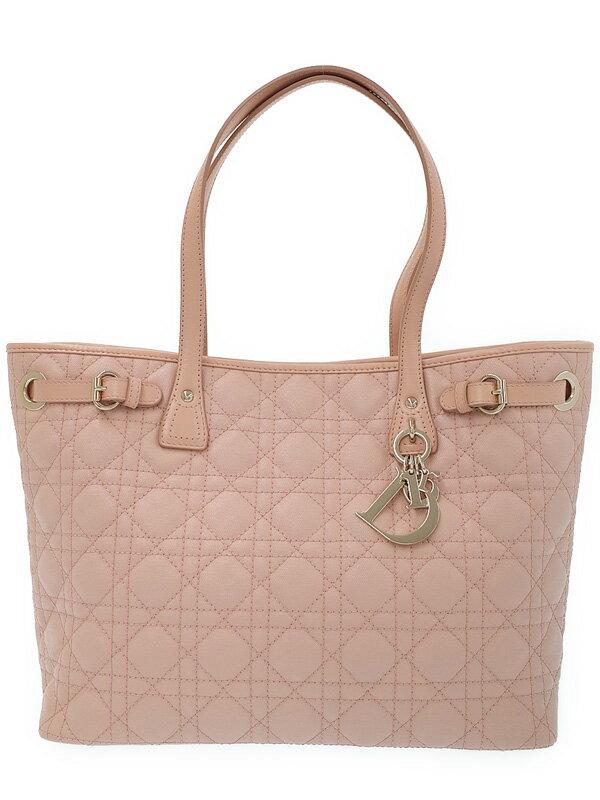 【Dior】【カナージュ】クリスチャンディオール『パナレア トートバッグ』レディース 1週間保証【中古】