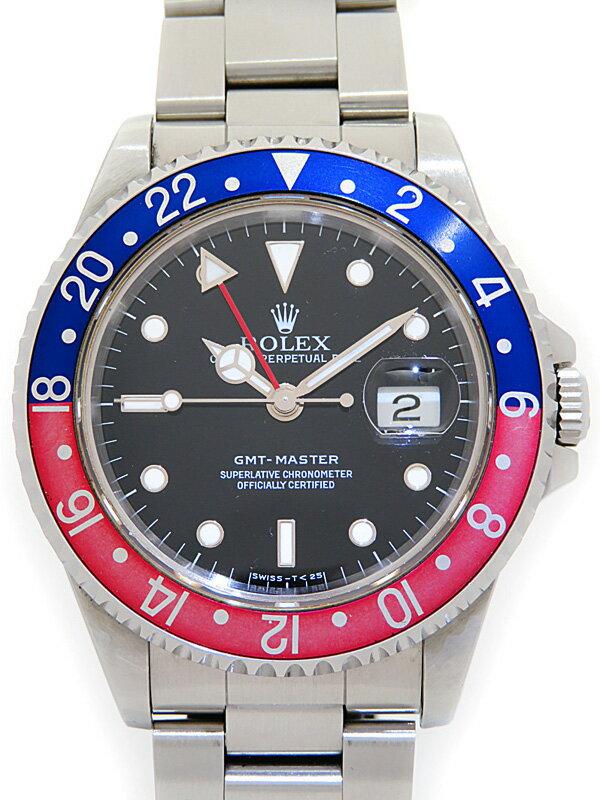 【ROLEX】ロレックス『GMTマスター 赤×青ベゼル』16700 X番'91年頃製 メンズ 自動巻き 12ヶ月保証【中古】