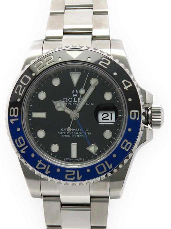 【ROLEX】【'14年購入】ロレックス『GMTマスター2 青×黒ベゼル』116710BLNR ランダム番 メンズ 自動巻き 12ヶ月保証【中古】