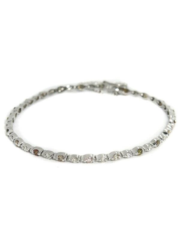【仕上済】セレクトジュエリー『K18WGブレスレット ダイヤモンド2.10ct』1週間保証【中古】