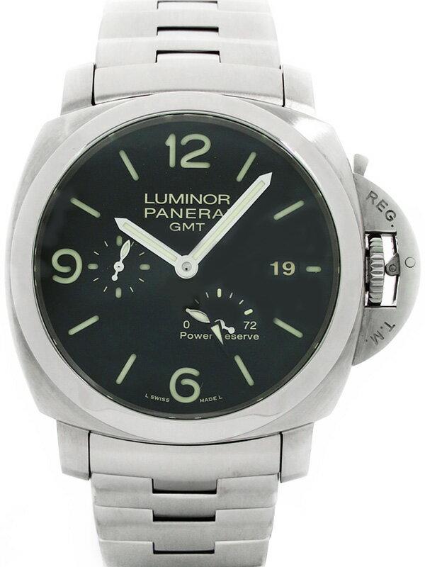 【PANERAI】【裏スケ】パネライ『ルミノールマリーナ1950 3デイズ GMT』PAM00347 N番'11年製 メンズ 自動巻き 6ヶ月保証【中古】