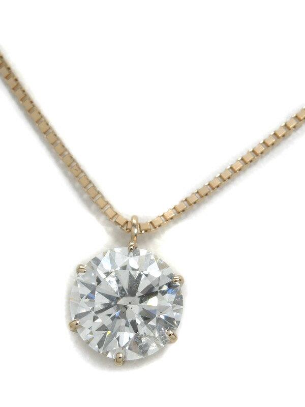 【鑑定書】セレクトジュエリー『K18PGネックレス ダイヤモンド1.022ct/F/SI-2/EXCELLENT』1週間保証【中古】