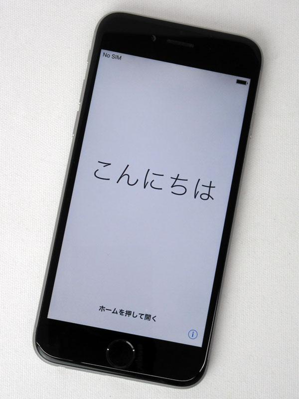 【Apple】アップル『iPhone 6 16GB SoftBank』MG472J/A スペースグレイ iOS10.3.3 4.7型 白ロム ○判定 スマートフォン【中古】