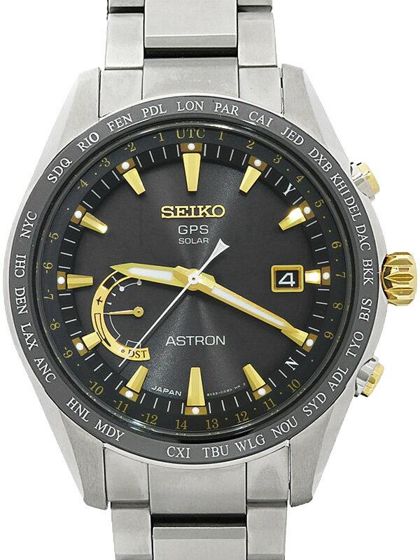 【SEIKO】【美品】【'17年購入】セイコー『アストロン』SBXB087 64****番 メンズ ソーラーGPS 3ヶ月保証【中古】