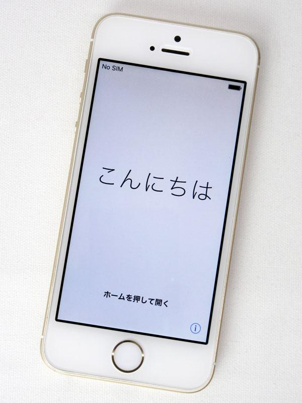 アップル『iPhone SE 16GB SoftBank』MLXM2J/A ゴールド iOS10.3.3 4型Retina 日本版 スマートフォン【中古】