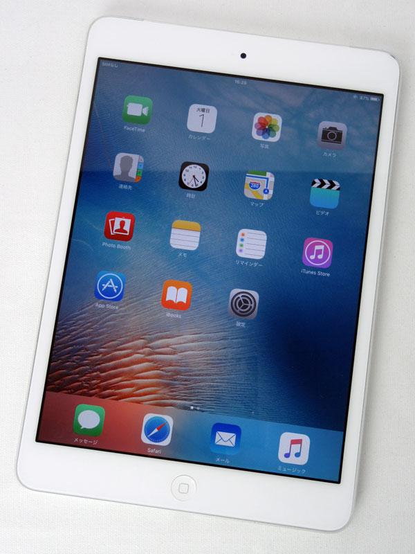 【Apple】アップル『iPad mini Wi-Fi + Cellular 16GB au』MD543J/A ホワイト iOS9.3.5 7.9型 ○判定 タブレット【中古】