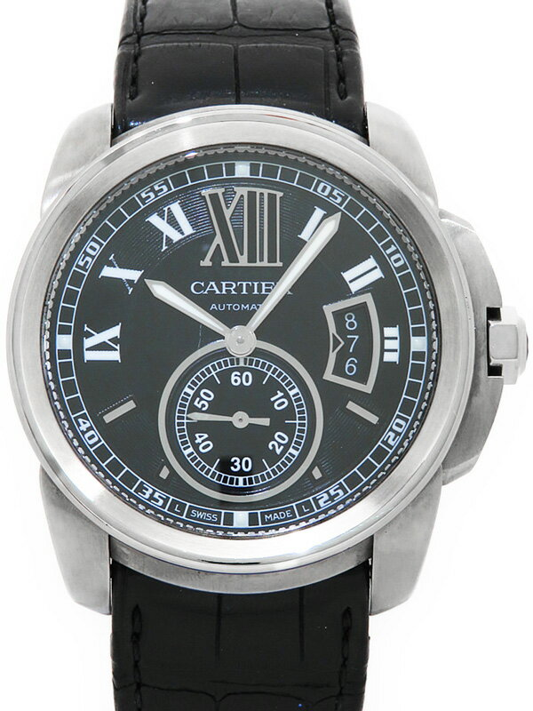 【CARTIER】【裏スケ】カルティエ『カリブル ドゥ カルティエ』W7100014 メンズ 自動巻き 3ヶ月保証【中古】
