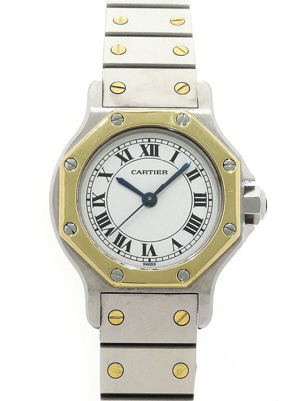【Cartier】カルティエ『サントスオクタゴン』レディース 自動巻き 1ヶ月保証【中古】