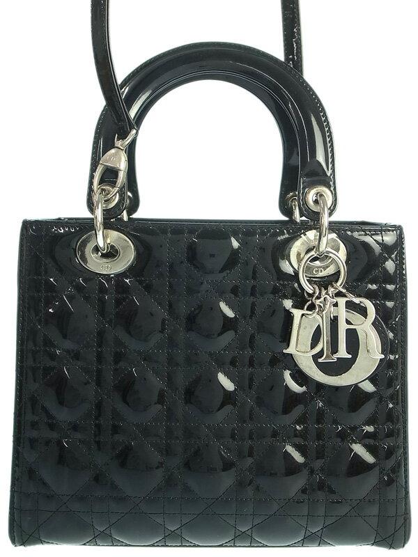 【Christian Dior】【カナージュ】クリスチャンディオール『レディディオール(M)』VRB44551 レディース 2WAYバッグ 1週間保証【中古】