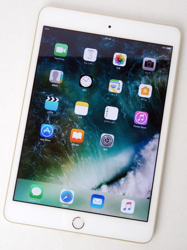 【Apple】アップル『iPad mini 3 店頭デモ機モデル Wi-Fi 16GB』3A136J/A(MGYE2J/A) ゴールド 7.9インチRetinaディスプレイ 1週間保証【中古】