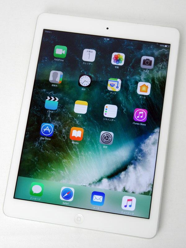 【Apple】アップル『iPad Air Wi-Fi + Cellular 16GB au』MD794JA/A シルバー iOS10.3.2 9.7型 ○判定 タブレット【中古】