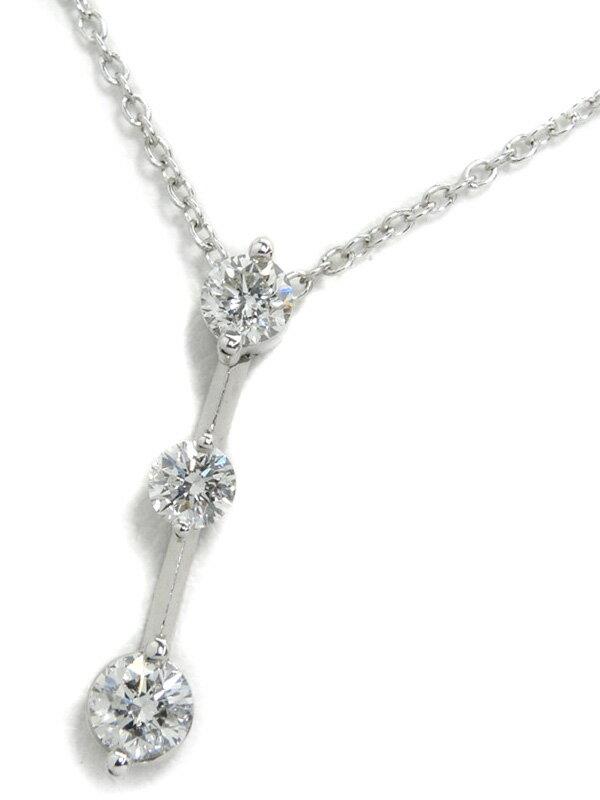 【Ponte Vecchio】ポンテヴェキオ『K18WGネックレス ダイヤモンド0.50ct』1週間保証【中古】