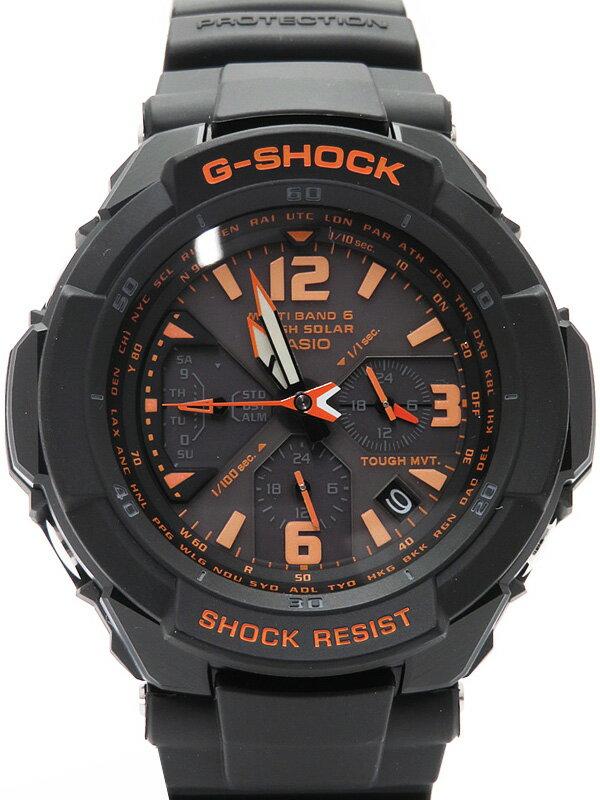 【CASIO】【G-SHOCK】【美品】カシオ『Gショック スカイコックピット』GW-3000B-1AJF メンズ ソーラー電波クォーツ 1週間保証【中古】